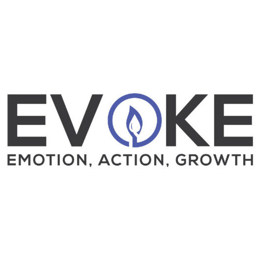 Evoke Logo Blue White Box_horizontal-primary-cmyk